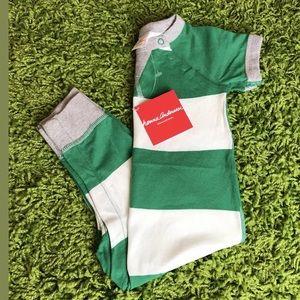 HANNA ANDERSSON 80 Short Sleeve Playsuit 18-24 MTH